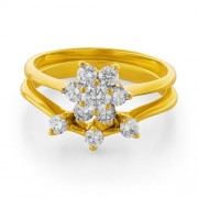 0.69ct. diamond ring set with diamond in flower ring
