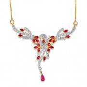 2.73ct. ruby mangalsutra set with diamond in mangalsutra mangalsutra