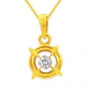 0.13ct. diamond pendant set with diamond in solitaire pendant