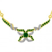 1.48ct. emerald pendant set with diamond in casual pendant