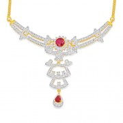 1.3ct. ruby necklace set with diamond in fancy necklace