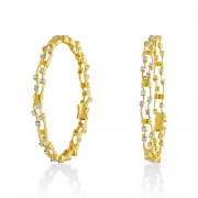 2.57ct. diamond bangles set with diamond in fancy bangles