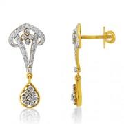 1.11ct. diamond earrings set with diamond in drop earrings