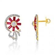 2.89ct. ruby earrings set with diamond in fancy earrings