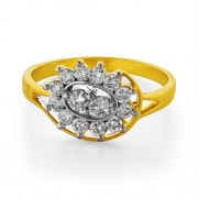 0.57ct. diamond ring set with diamond in flower ring