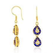 0.2ct. diamond earrings set with diamond in jadau earrings