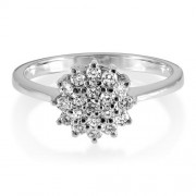 0.36ct. diamond ring set with diamond in cluster ring