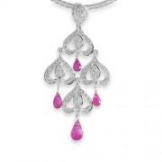 3.15ct. tourmaline pendant set with diamond in fancy pendant