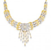 2.31ct. diamond necklace set with diamond in traditional necklace
