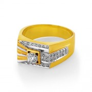 0.36ct. diamond ring set with diamond in mens ring