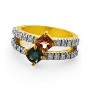 2ct. tourmaline ring set with diamond in cocktail ring