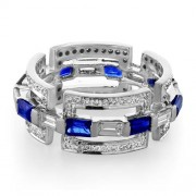 1.49ct. sapphire ring set with diamond in eternity ring