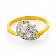 0.35ct. diamond ring set with diamond in flower ring