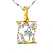 0.34ct. diamond pendant set with diamond in religious pendant