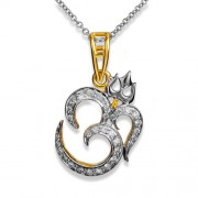 0.33ct. diamond pendant set with diamond in religious pendant
