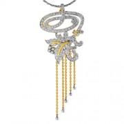 1.27ct. diamond pendant set with diamond in drop pendant