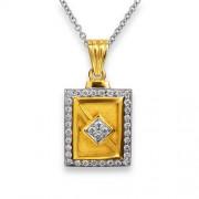 0.59ct. diamond pendant set with diamond in mens pendant