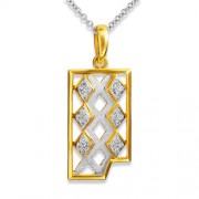 0.17ct. diamond pendant set with diamond in mens pendant