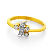 0.15ct. diamond ring set with diamond in casual ring