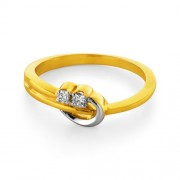0.08ct. diamond ring set with diamond in casual ring