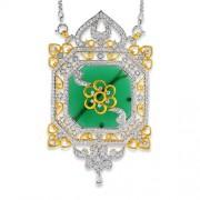 42.2ct. onyx pendant set with diamond in designer pendant