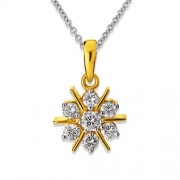 0.46ct. diamond pendant set with diamond in cluster pendant