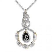 11.28ct. onyx pendant set with diamond in designer pendant