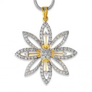 2.28ct. diamond pendant set with diamond in cluster pendant