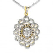 1.59ct. diamond pendant set with diamond in cluster pendant