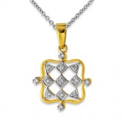 0.19ct. diamond pendant set with diamond in fancy pendant