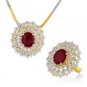 9.24ct. semi precious gem ring set with diamond in designer ring