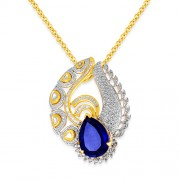 16.54ct. hydro pendant set with diamond in fusion pendant