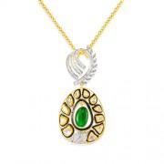 7.76ct. hydro pendant set with diamond in fusion pendant