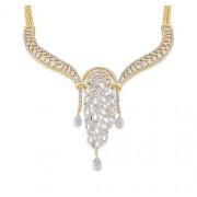 8.95ct. diamond necklace set with diamond in designer necklace