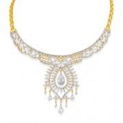 10.6ct. diamond necklace set with diamond in designer necklace