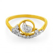 0.24ct. diamond ring set with diamond in casual ring