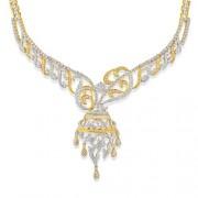 8.41ct. diamond necklace set with diamond in designer necklace