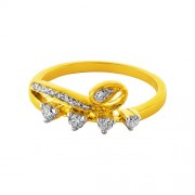0.22ct. diamond ring set with diamond in casual ring