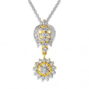 0.75ct. diamond pendant set with diamond in cluster pendant