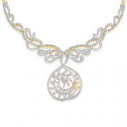 6.99ct. diamond necklace set with diamond in fancy necklace
