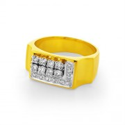 0.51ct. diamond ring set with diamond in mens ring