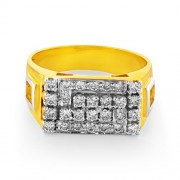 0.64ct. diamond ring set with diamond in mens ring