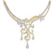 7.29ct. diamond necklace set with diamond in designer necklace