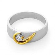 0.23ct. diamond ring set with diamond in engagement ring