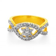 0.71ct. diamond ring set with diamond in flower ring