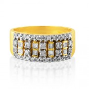 0.68ct. diamond ring set with diamond in band ring