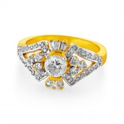 0.93ct. diamond ring set with diamond in engagement ring