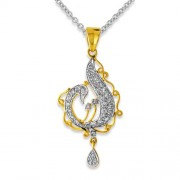 0.41ct. diamond pendant set with diamond in drop pendant