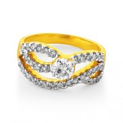 0.78ct. diamond ring set with diamond in engagement ring