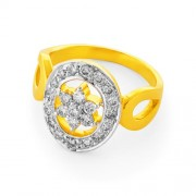 0.6ct. diamond ring set with diamond in flower ring
